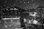 Snowing mid-week in Toblach