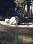 Killing it on the slackline!