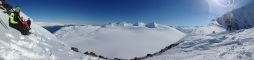 We also did some backcountry skiing near Portage. Overlooking an ice field in Prince William Sound