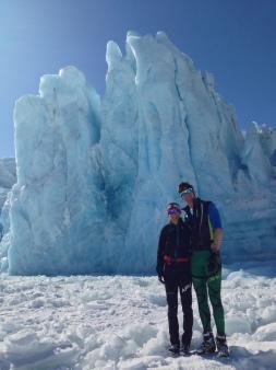 Crust skiing at Portage Lake and Glacier