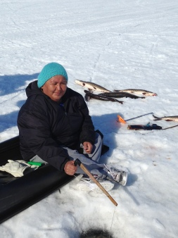 """And often skied past locals ice-fishing for sheefish, the fish after which the village is named. Selawik comes from """"siilvik"""" which means """"place of sheefish"""" in Inupiaq."""