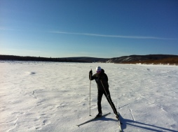 Skiing on the Kuskokwim River!