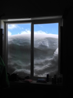 June Camp brought a week of blinding blizzard conditions. This is our window at the beginning of camp.