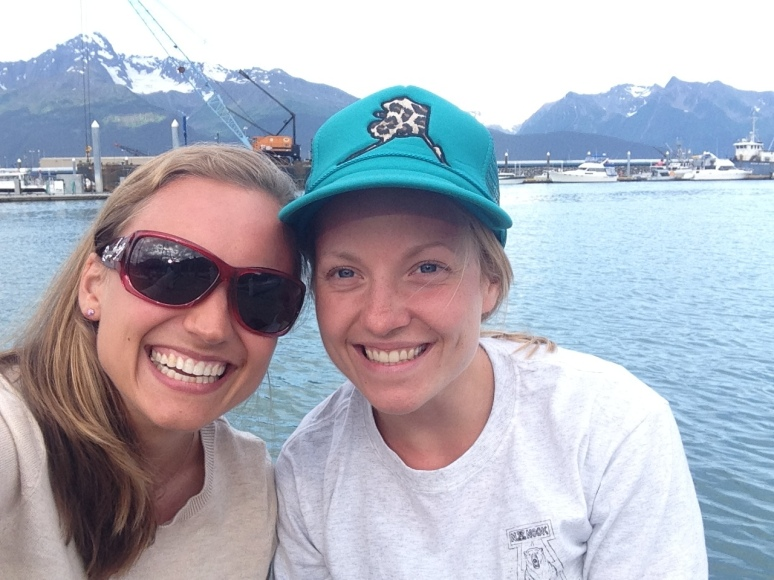 Hanging out in Seward with my roomie, Heather.