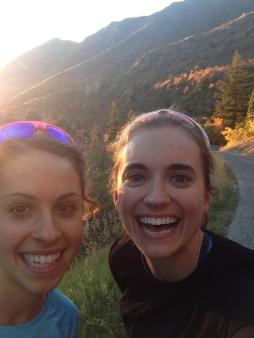 Franki and I enjoying Utah.