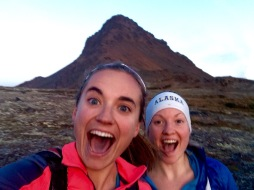 Last mountain adventure with Heather. Ptarmigan Peak behind us.