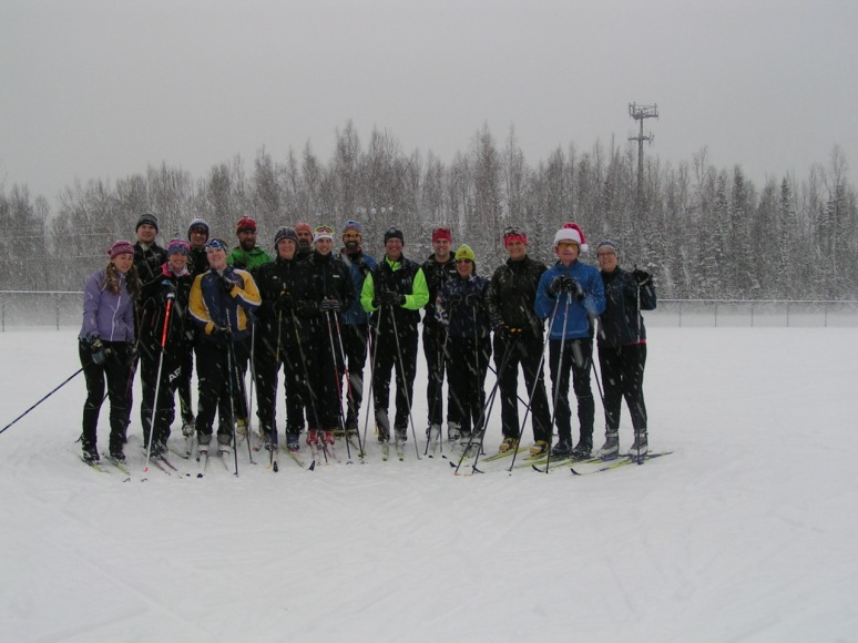 Christmas group ski